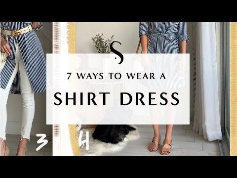 7 Ways To Wear A Shirt Dress I Sydne Summer