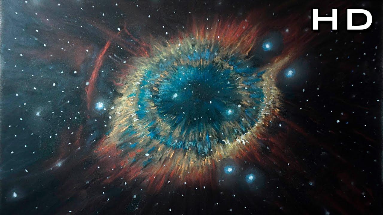 Cómo Dibujar una Nebulosa y Estrellas con Tiza Pastel Paso ...