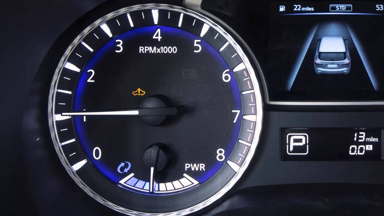 2014 Infiniti Qx60 Hev Direct Response Hybrid System Warning Light Dashboard Symbols For Toyota Cars