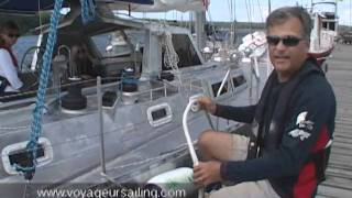 Leaving dock in tight quarters
