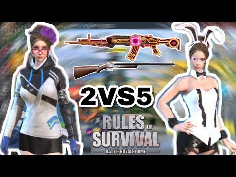 2 VS 5 No Fear/Rules Of Survival/-Ep.124/PrivatePlork