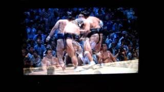 照ノ富士vs勢 平成27年大相撲七月場所 Sumo Terunofuji vs Ikioi.