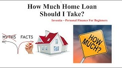 How Much Home Loan Should I Take?