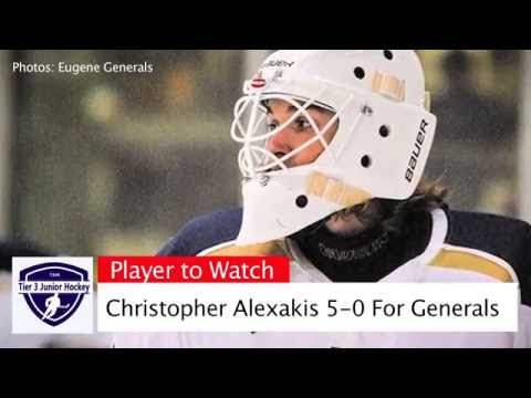 Christopher Alexakis A Tier 3 Junior Hockey Player to Watch