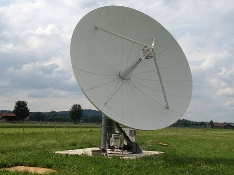 Installation of a refurbished Viasat 7.3m Ku-band Earth Station Antenna by Skybrokers
