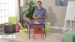 Showtime Childrens Folding Table And Chair Set - Multi-color - Product Review Video