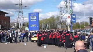 Leicester City vs West Ham - Gospel choir outside King Power stadium part 2