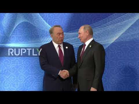 Kazakhstan: Kazakh President Nazarbayev welcomes Caspian counterparts ahead of Summit