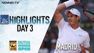 Murray Thiem Zverev Advance On Tuesday In Madrid 2017 Highlights