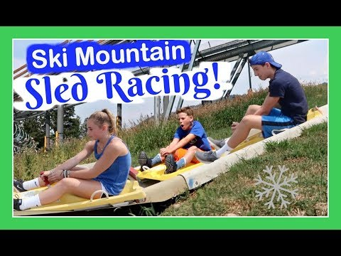 SKI MOUNTAIN 🏂 SLED RACING IN WYOMING | A WESTERN RV ADVENTURE | Flippin' Katie