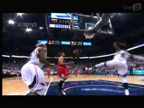 Great Action of the game 6 - Chicago Bulls vs Atlanta Hawks - Semi Finals  playoffs 2011