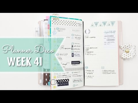 Planner Deco Week 41 & Turn Out