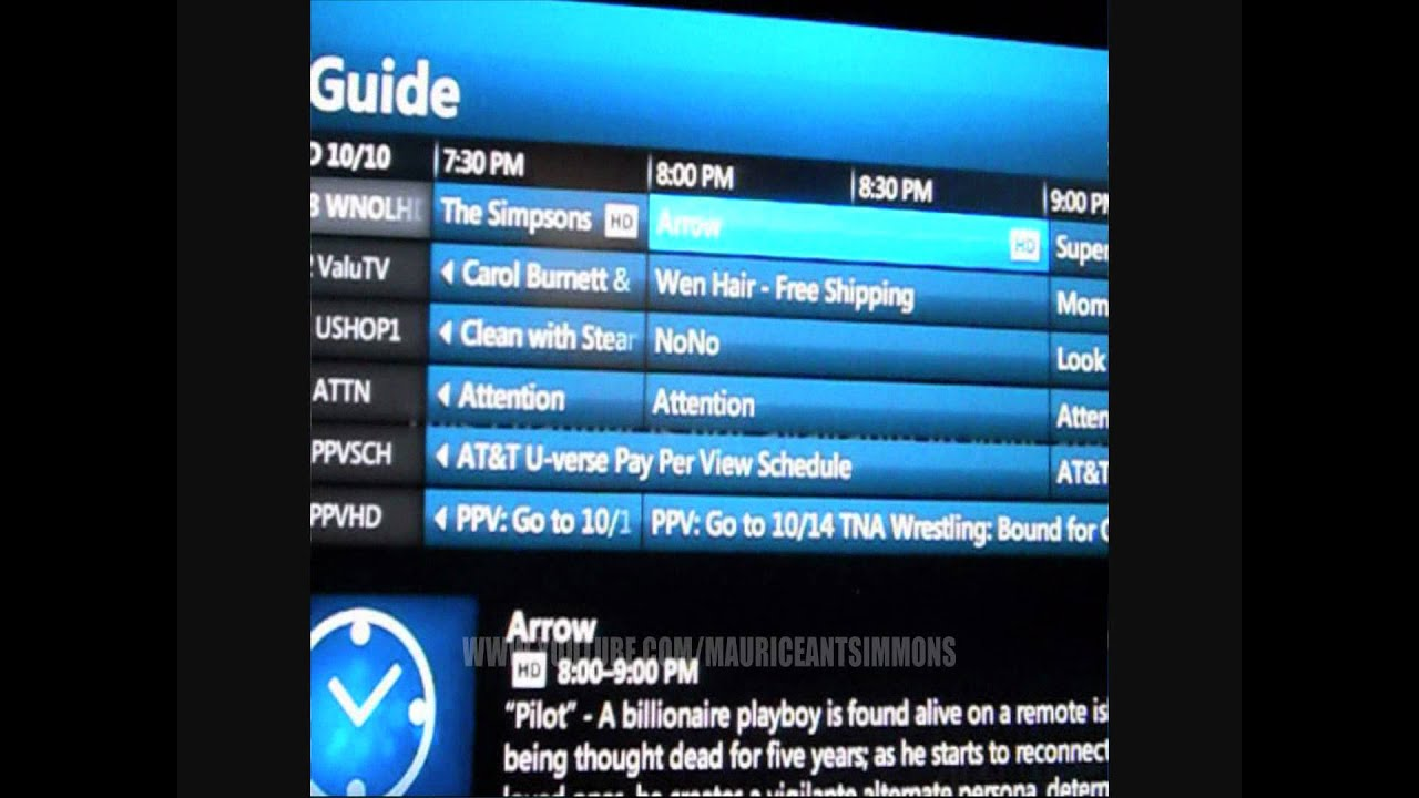 What channel is the - Uverse Frustration Arrow Not Available In Your Area