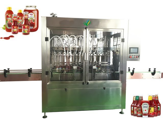 Chili Sauce/Ketchup filling capping labeling production line for paste bottling machine