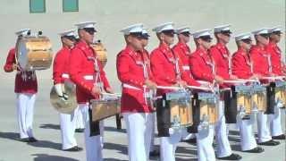 USMC Battle Colors 2012, percussion practice