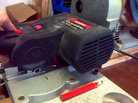 2 Harbor Freight Cut Off Saw Abrasive Cut Off Wheel Demo Youtube