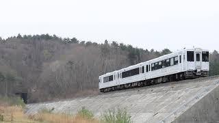 三陸鉄道リアス線 キハ110系 試9111D 「TOHOKU EMOTION」 野田玉川~十府ヶ浦海岸 2019年4月24日