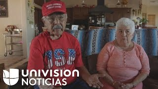 Barbara and James two pro Trump Hispanic voters living by the Mexican border