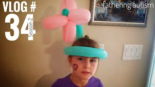 Autistic Girl Scared Of Balloons   Summer Is Gone   Fathering Autism Vlog #34