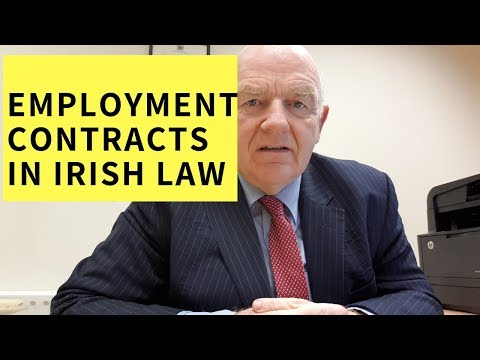The Contract of Employment-Employment Contracts in Irish Employment Law