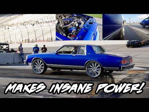 YOU WOULD NEVER GUESS HOW MUCH POWER THIS LS TWIN TURBO CAPRICE ON 26 INCH RIMS MAKES!