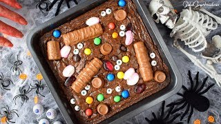 How to Make Easy Halloween Witches Brownie Recipe 할로윈 브라우니 레시피