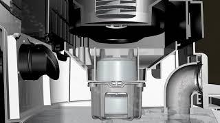 JN501 Water Filter Vacuum Cleaner - 3D show