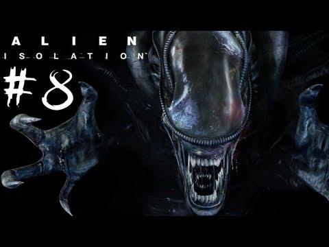 Alien isolation (чужой изоляция). Консультация. Спуск. Гнездо чужих   Хоррор. Прохождение на ps4 pro
