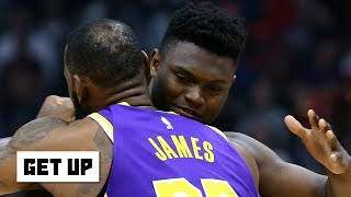 Reacting to LeBron hugging Zion and his comments after the Lakers
