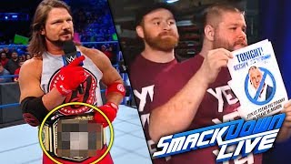 New WWE Title Belt! Daniel Bryan HUGE Announcement! WWE SmackDown Live 12/12/17 Review & Results!