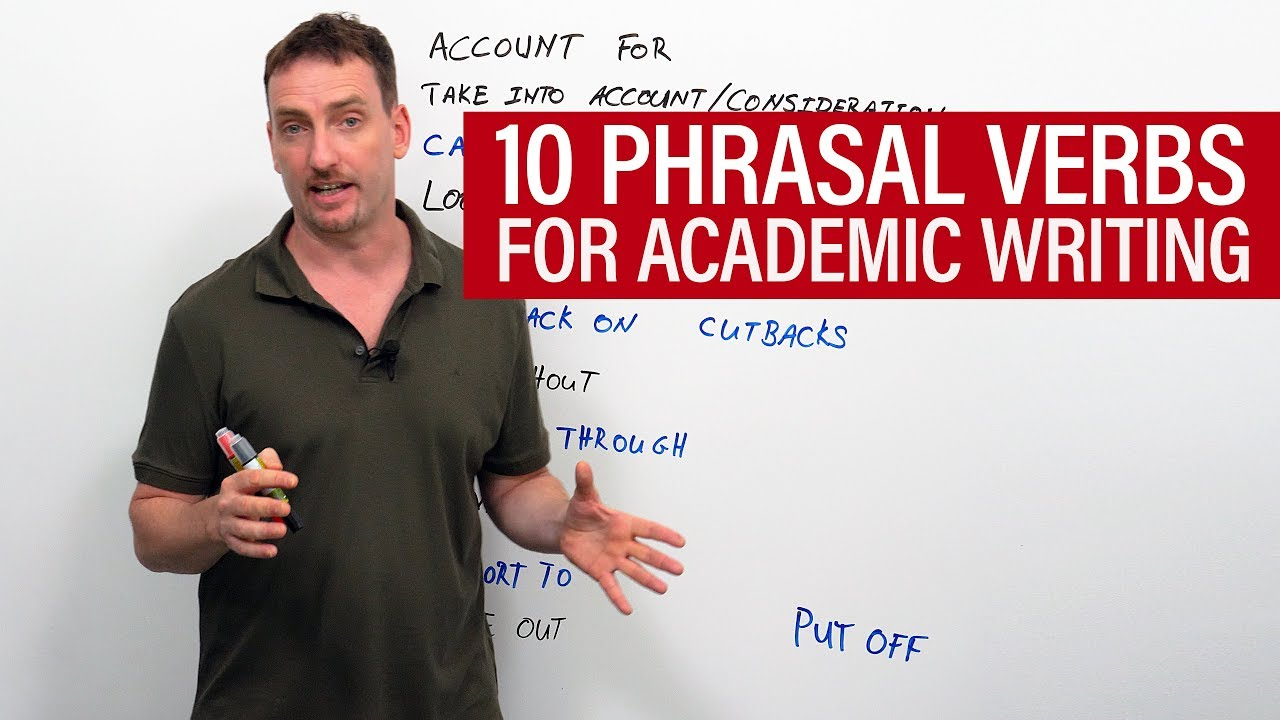 10 Phrasal Verbs for Academic Writing in English