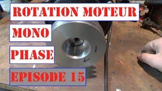 Comment changer la rotation d'un moteur mono phase 220V