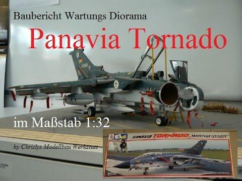 Baubericht Panavia Tornado Wartungsdiorama der Marine  in 1:32 Revell