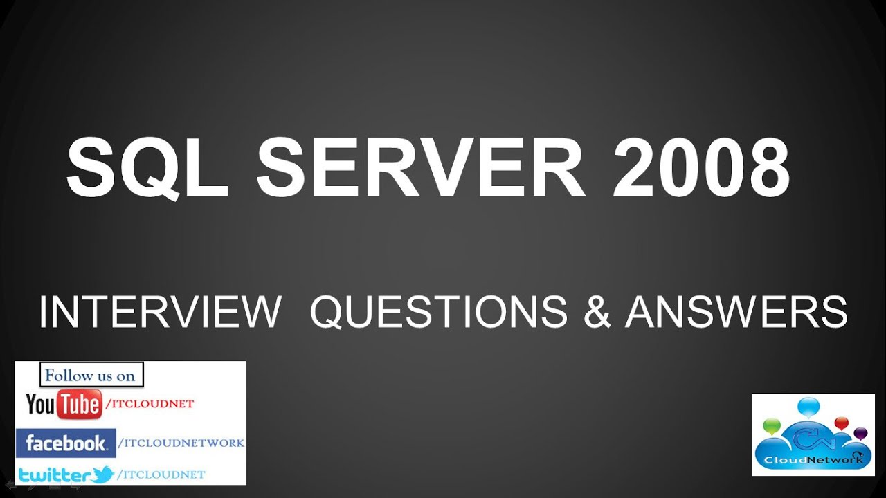 MS SQL SERVER 2008 2012 INTERVIEW QUESTIONS ANSWERS for