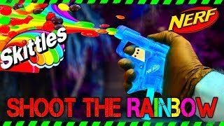CRAZY NERF GUN MOD - Nerf Gun Skittles Shooter