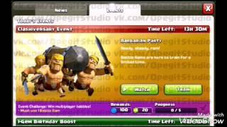Evento de 5 anos de aniversário Clash of clans