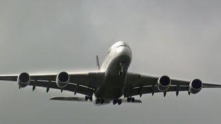 巨大旅客機着陸!!! ヴェイパーランディング!!! Lufthansa A380 Narita Airport landing