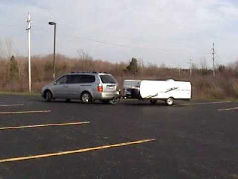 2006 Kia Sedona Towing Jayco Pop Up Camper Youtube