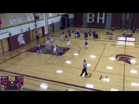 Burnt Hills-Ballston vs. Saratoga High School Varsity Womens' Basketball