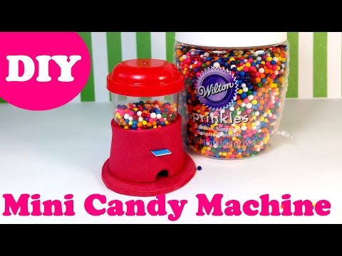 DIY Miniature Working Candy Gumball Machine - Real Candy Inside