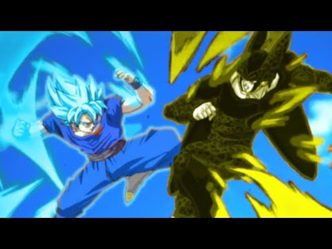 Fusion Warrior Super Saiyan Vegito vs Perfect Cell ULTIMATE BATTLE! Dragon Ball Super Card Game
