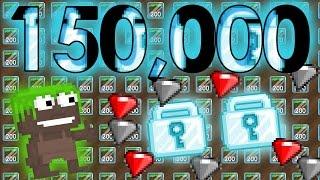 Growtopia - RECYCLING 150K DIRT BLOCKS SKIT PT.1