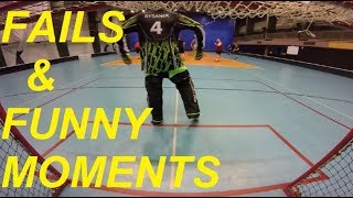 FAILS AND FUNNY MOMENTS   FLOORBALL GOALIE