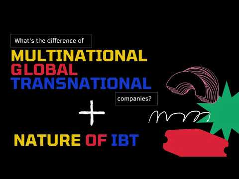 WHAT IS THE DIFFERENCE OF MULTINATIONAL, GLOBAL AND TRANSNATIONAL COMPANY?   NATURE OF INTL BUSINESS