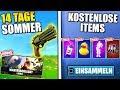 14 Tage Sommer Fortnite 😱 KOSTENLOSE ITEMS, Neue Skins, Neuer Revolver & Herausforderung | Deutsch