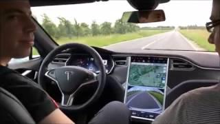 Tesla Model S P90D Ludicrous - Test Drive, Acceleration, Auto Pilot