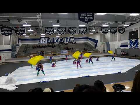 Whittier High school color guard beauty flies