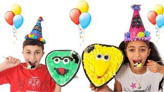 Heidi and Zidane أعدوا كعكة عيد ميلاد سعيد لأبيهم happy birthday