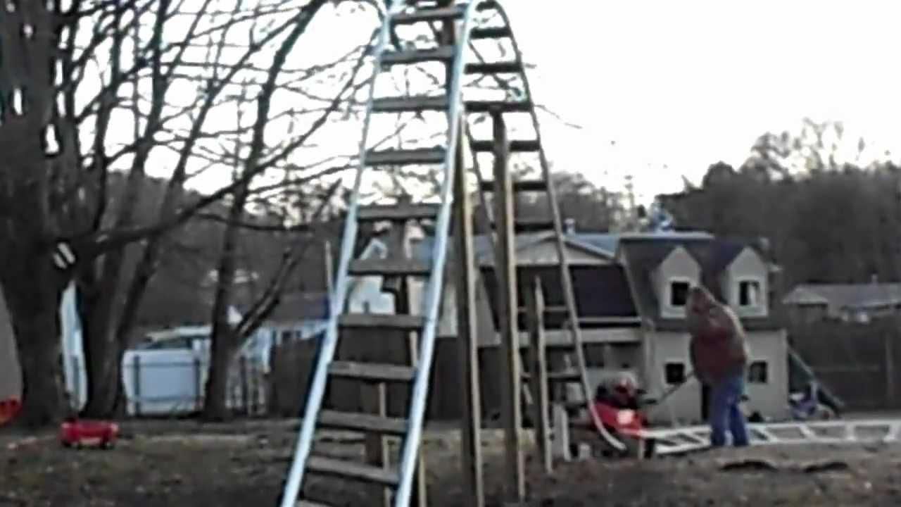 backyard roller coaster call child services youtube