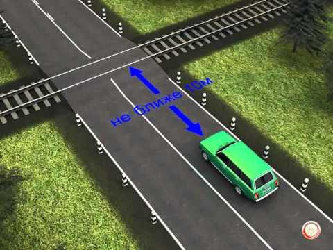 Пдд остановка за переездом сколько метров